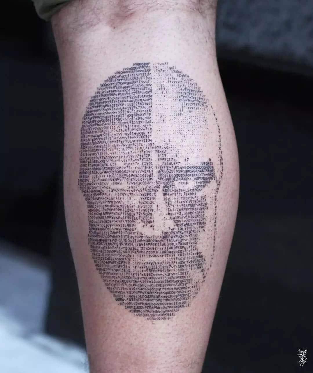 ASCII tattoo